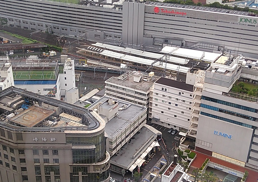 オデッセイ テスティングセンター 横浜のある横浜スカイビルからの眺め